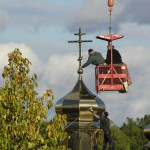 PA130014 150x150 Освящение крестов на куполах