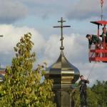 PA130015 150x150 Освящение крестов на куполах