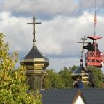 PA130019 150x150 Освящение крестов на куполах